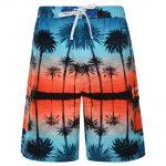 KAM Palm print Swimming Shorts