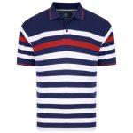 Kam Stripe Pique Polo Shirt – Navy