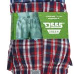D555 Twin Pack Woven Boxer Shorts – Blue