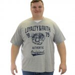 Loyalty & Faith Mortimer V Neck T-shirt – Grey