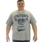 Loyalty & Faith Mortimer V Neck T-shirt – Grey – Tee -3XL