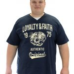 Loyalty & Faith Mortimer V Neck T-shirt – Navy