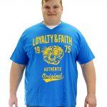 Loyalty & Faith Mortimer V Neck T-shirt – Royal Blue – Tee -4XL