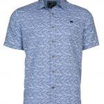 Raging Bull Leaf Print Shirt 100% Linen