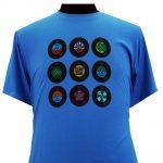 Espionage Vinyl Disc T-Shirt – Blue